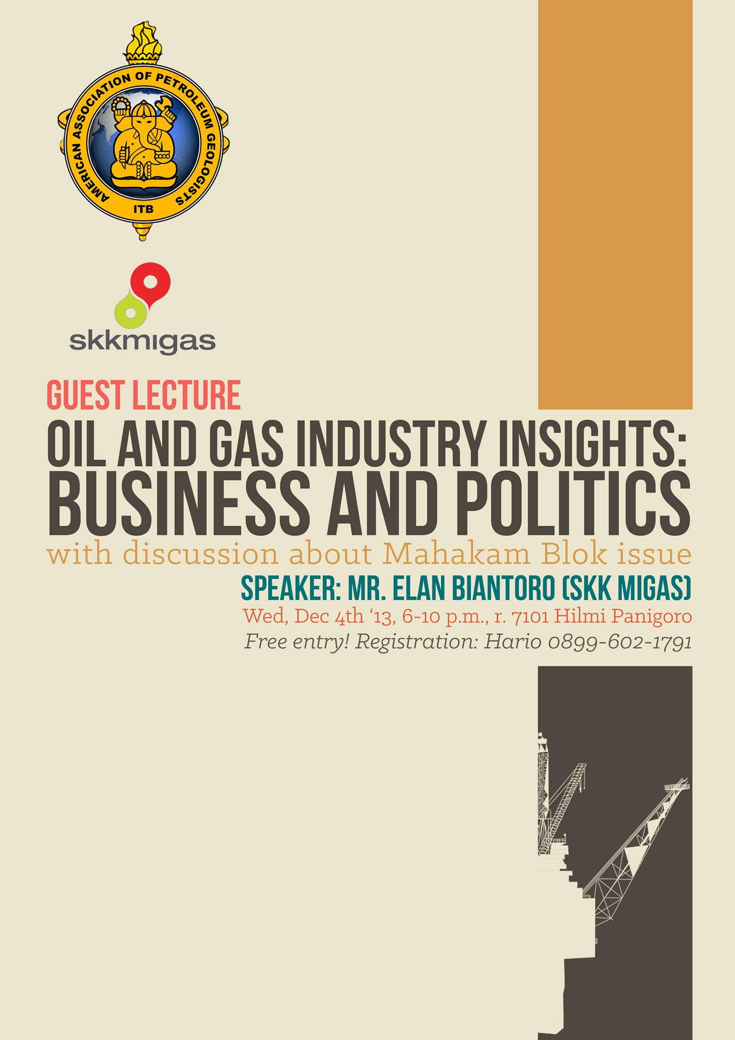Publication of  Lecture and Discussion on Petroleum insight: Business and Politics