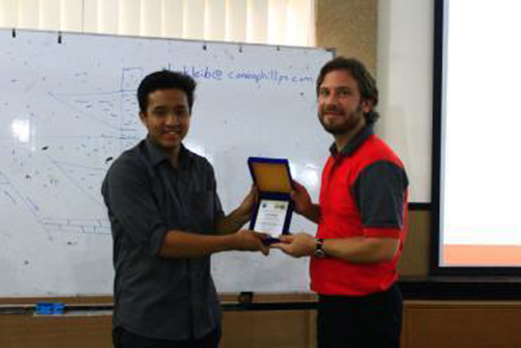Memento given by ITB SC AAPG President to Mr. Derik W. Kleibacker (Chief Geology ConocoPhillips Indonesia)