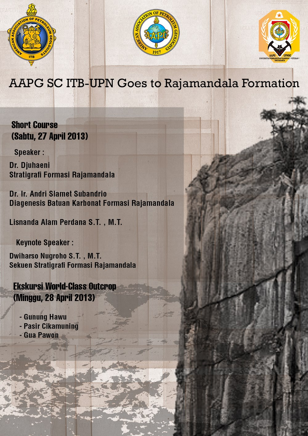 Publication of field trip: RAJAMANDALA FIELDTRIP JOIN EVENT WITH AAPG SC UPN