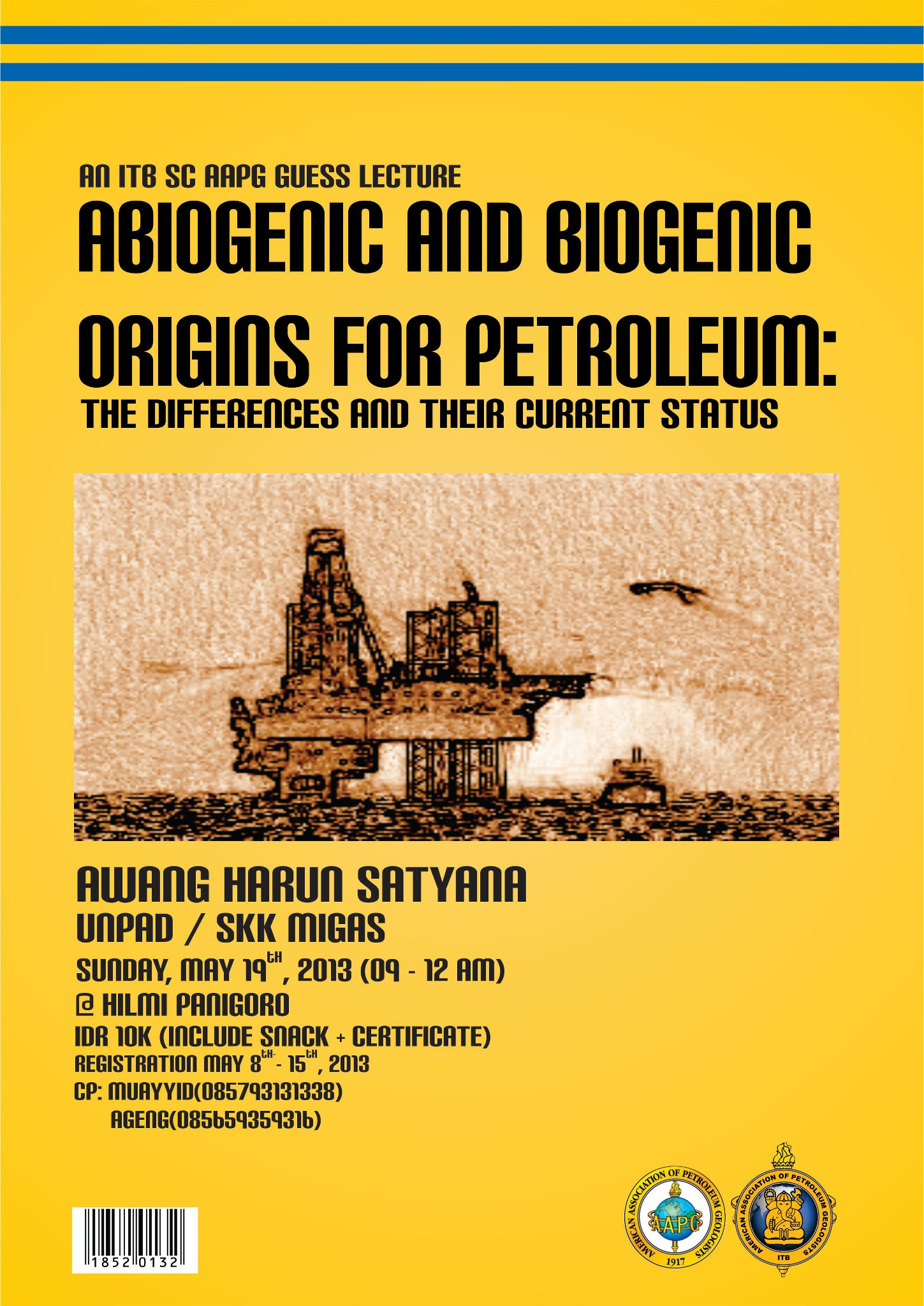 Publication of ABIOGENIC AND BIOGENIC ORIGINS OF PETROLEUM: THE DIFFERENCES AND THEIR CURRENT STATUS LECTURE