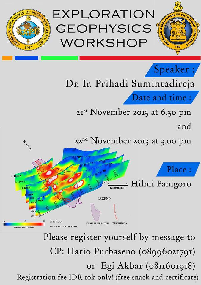 Publication of workshop: Exploration Geophysics