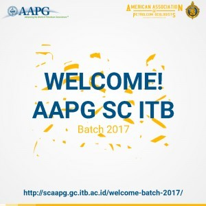 Welcome! New Member of AAPG SC ITB Batch 2017